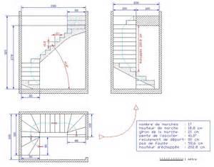 plans escaliers droit quart tournant haut et bas