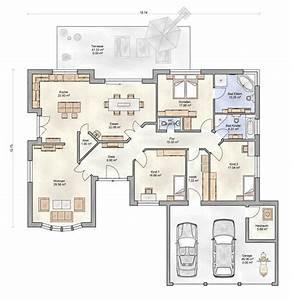 Grundriss Doppelhaushälfte Seitlicher Eingang : bungalow grundriss 4 zimmer mit garage ~ Markanthonyermac.com Haus und Dekorationen