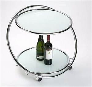 Couchtisch Glas Auf Rollen : designer tisch beistelltisch glas stahl chrom barwagen auf rollen couchtisch ebay ~ Markanthonyermac.com Haus und Dekorationen