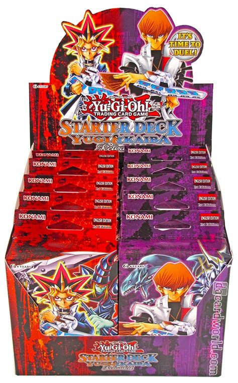 konami yu gi oh yugi kaiba reloaded starter 12 box da card world