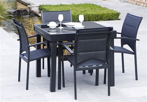 salon de jardin modulo 1 table 4 fauteuils