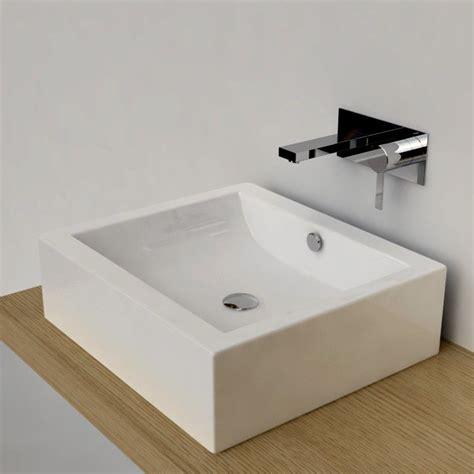 vasque 224 poser rectangulaire 50x45 cm c 233 ramique