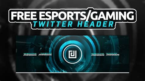 Twitter Header Template Photoshop by Esports Gaming Twitter Header Template Photoshop 2016