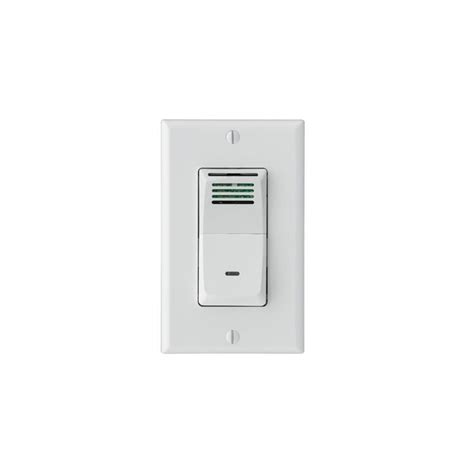 broan 82w white humidity sensing bath fan wall switch with