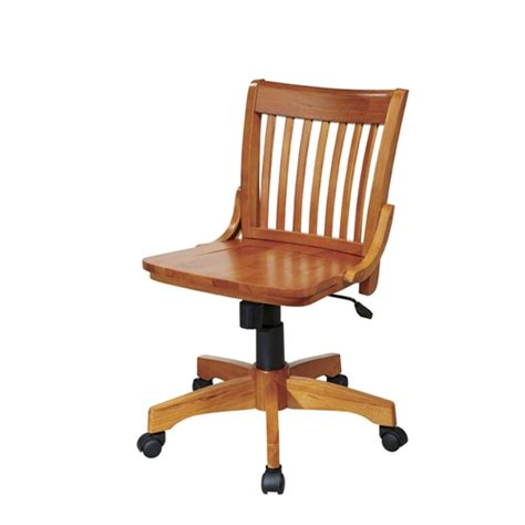 Armless Wood Bankers Chair by Armless Bankers Chair With Adjustable Height Wood Seat