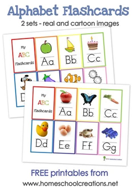 Free Alphabet Flash Cards And Alphabet Wall Posters  Free Homeschool Deals