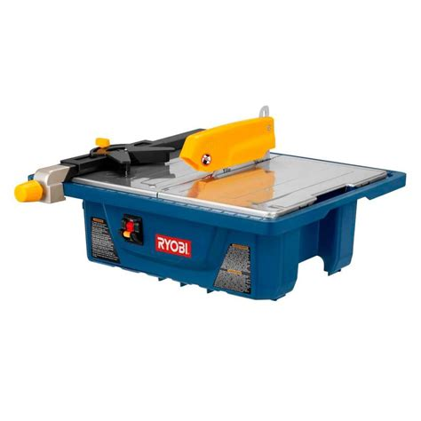 ryobi 3 4 hp 7 in tile saw ws7211 the home depot