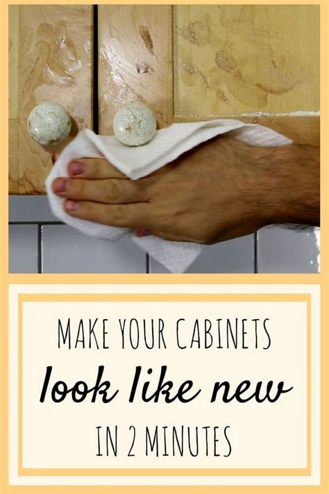 Make Your Greasy Kitchen Cabinets Look Like New In 2