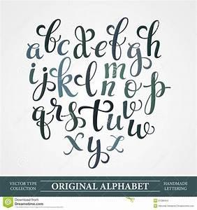 El alfabeto original. Hechos a mano letras de vector ...
