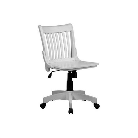 Armless Wood Bankers Chair by Armless Wood Bankers Office Chair With Wood Seat In White