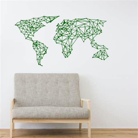 sticker origami carte du monde stickers et design artistiques ambiance sticker