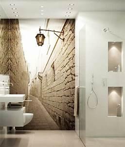 Wandgestaltung Gäste Wc : bildergebnis f r g ste wc fototapete pinterest badezimmer tapeten und baden ~ Markanthonyermac.com Haus und Dekorationen