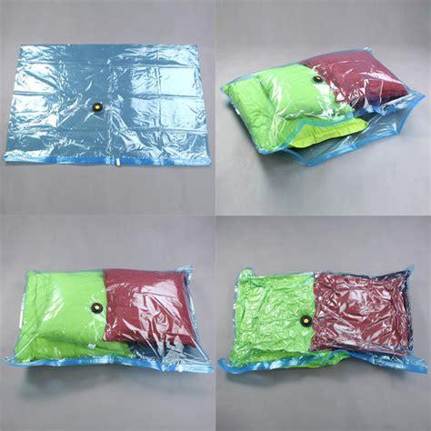 8x sacs housse de rangement sous vide pour vetement couette