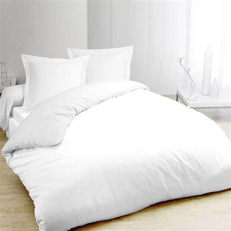 housse de couette coton blanc housse de couette lit 1 personne direct literie
