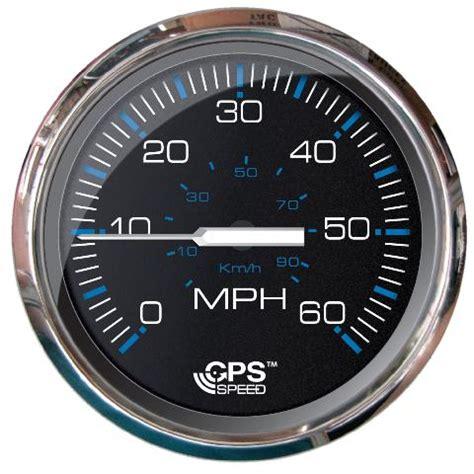 Gps Boat Speedometer by Faria Chesapeake Black Ss 60 Mph Gps Speedometer Faria