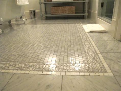 Mosaic Tile Floor  Transitional  Bathroom  Graciela