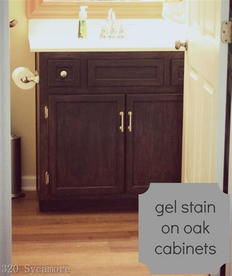 gel stain on oak cabinets re staining cabinets