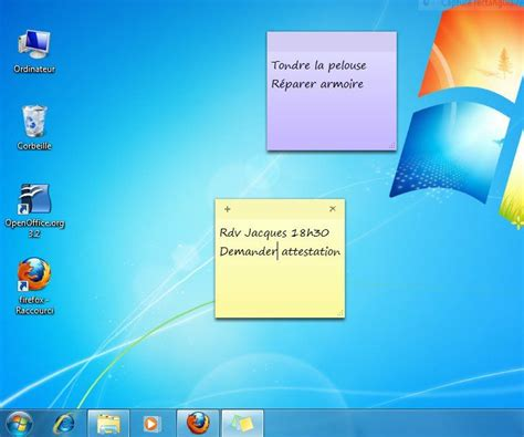 afficher des post it sur un ordinateur windows 7 lecoindunet