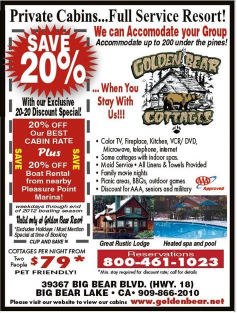 Big Bear Boat Rental Discount by Big Bear Discount Coupons
