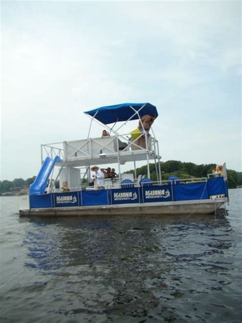 Lake Of Ozarks Boat Rental Close To Party Cove by Party Barge Style Pontoon Deck Boat Magazine