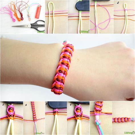 How To Diy Stylish Square Knot Macrame Bracelet