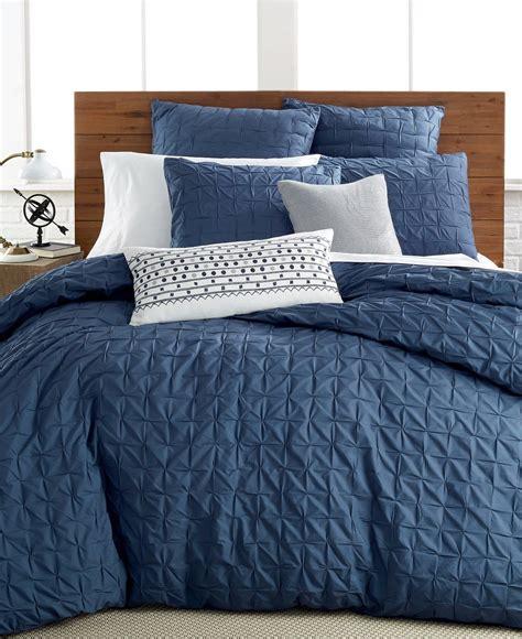 bar iii bedding box pleat 100 cotton xl comforter indigo blue b3110 what s it worth