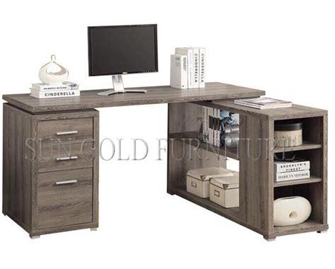 moderne en forme de l meubles en bois ordinateur de bureau bureau avec armoire rack sz od462