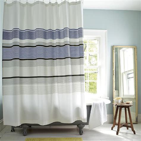 gallery stripe shower curtain west elm