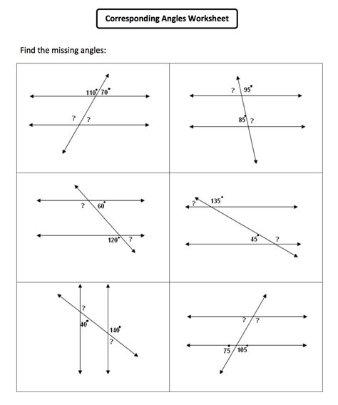 9 Best Images Of Lines And Angles Worksheets Geometry