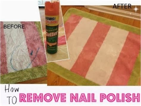 Removing Nail Polish From Carpet Dried