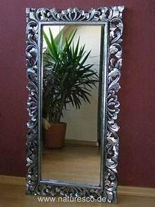 Wandspiegel Groß Weiß : spiegel wandspiegel barock barockspiegel massiv holz silber antik 120cm x 60cm ~ Markanthonyermac.com Haus und Dekorationen