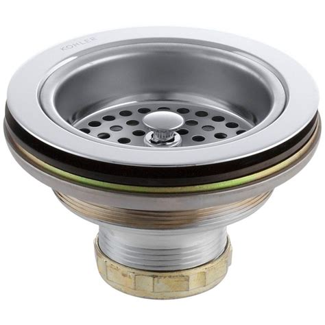 duostrainer 4 1 2 in sink strainer in polished chrome k