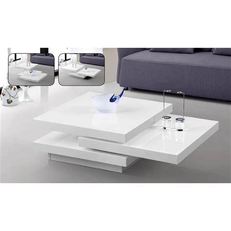 table de salon blanc laque