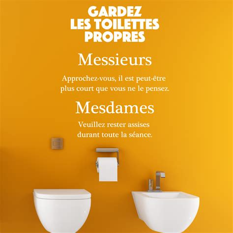 sticker citation wc gardez les toilettes propres stickers citations fran 231 ais ambiance sticker