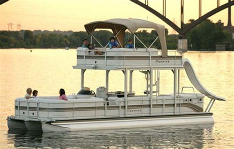 Pontoon Party Boat With Slide by Double Deck Pontoon Boat With Slide Want It So Bad