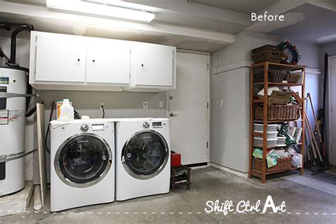 Laundry Nook In Garage Make-over