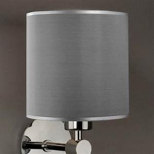 Glas Lampenschirme Für Tischleuchten : lampenschirm seide grau rund 16 x 16 cm online shop direkt vom hersteller ~ Markanthonyermac.com Haus und Dekorationen