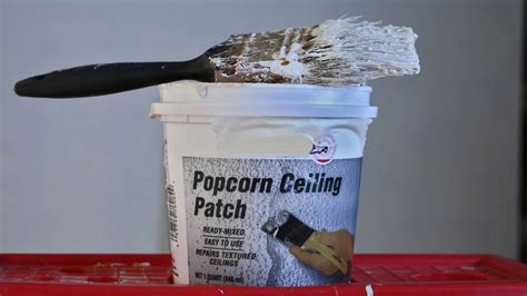 easy fix popcorn ceiling patch repair with brush