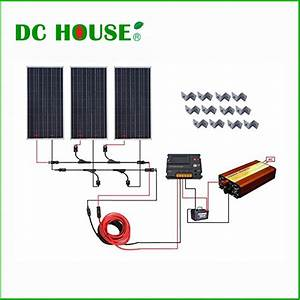 Complete kit 100w solar panel cells off grid system with ...