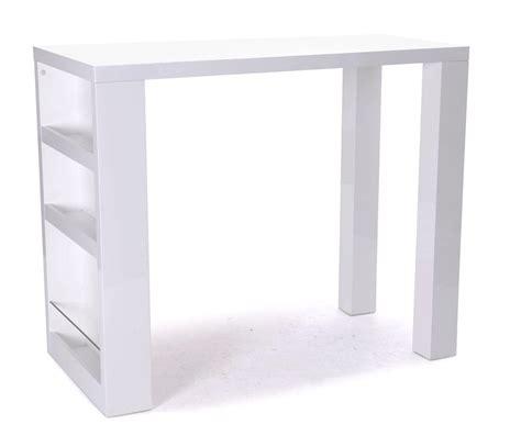 table bar blanc laque