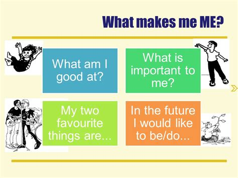 What Makes Me Me? What Am I Good At? What Is Important To