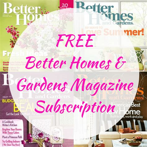 Better Homes And Gardens Magazine Subscription free better homes gardens magazine subscription