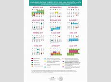 Calendario escolar 20182019 SEP 185, 195 y 200 días