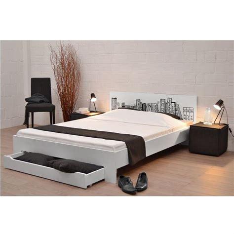 book lit blanc 160 x 200 cm achat vente structure de lit cdiscount
