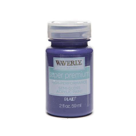 shop plaid waverly 174 inspirations premium semi gloss acrylic paint iris 2 oz 60649e
