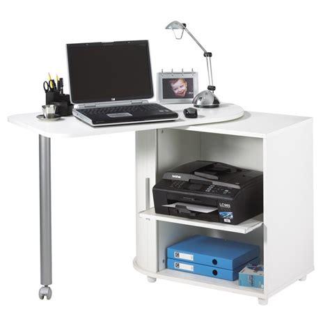 bureau informatique blanc pivotant beaux meubles pas chers