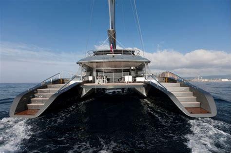 Mega Catamaran Sailing Yachts by Sailing Yacht Cartouche Delivered A Blue Coast 95