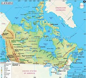 Canada Map // Canada, located in North America, is the ...