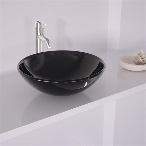 shop vigo black and brushed nickel glass vessel bathroom