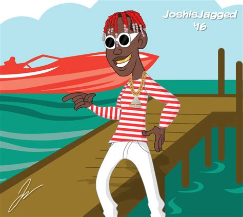 Lil Boat Cartoon by Lil Yachty Kim Possible Stephen Sivler Style By